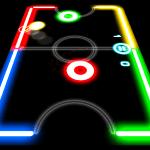 Glow Hockey, juego con discos en una tabla de baja fricción