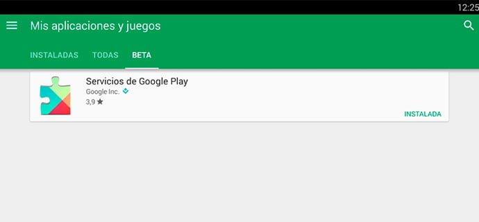 Google Play Services Beta