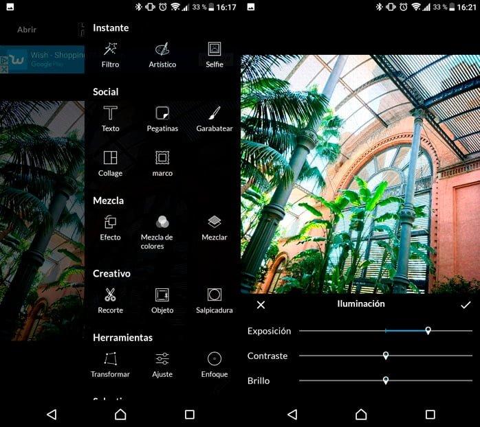 LightX, un editor de fotos profesional con infinidad de opciones