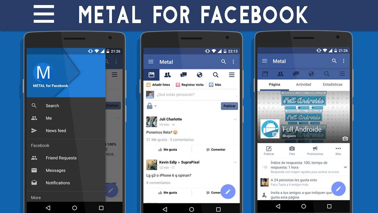 Metal para Facebook