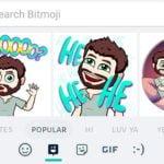 Actualización de Gboard con soporte para Bitmoji y stickers