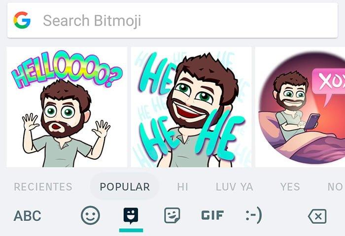 teclado google bitmoji