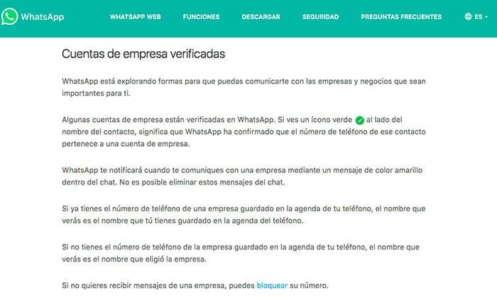 Se confirman la llegada de las cuentas business de WhatsApp destinadas a empresas