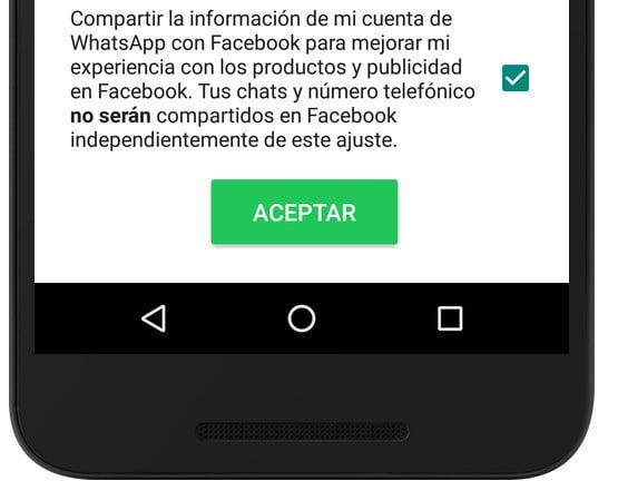 whatsapp facebook privacidad