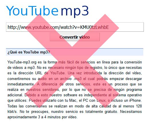 La denuncia de la RIAA y la BPI termina cerrando YouTube-MP3.org