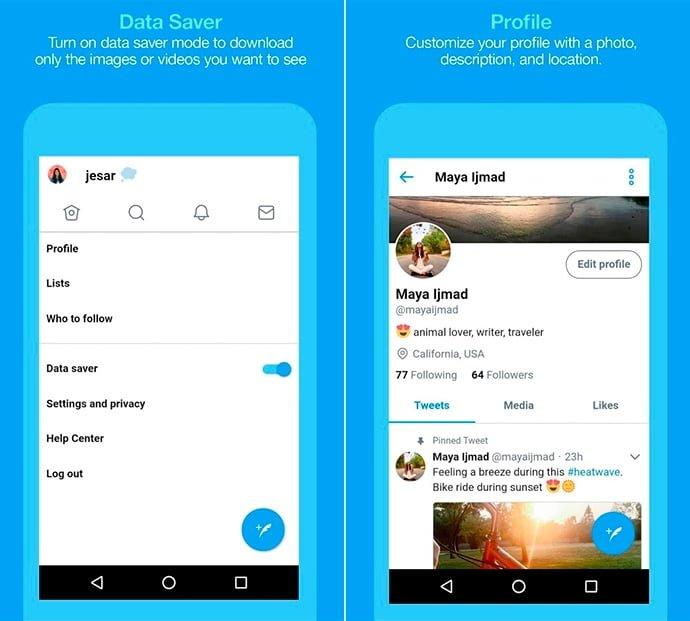 Aligerando la carga de Twitter con la nueva app Twitter Lite