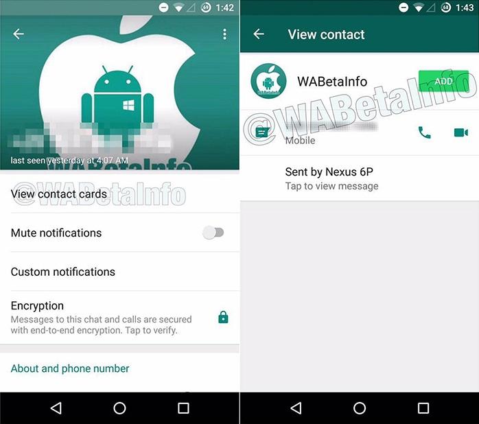 whatsapp contacto desconocido info